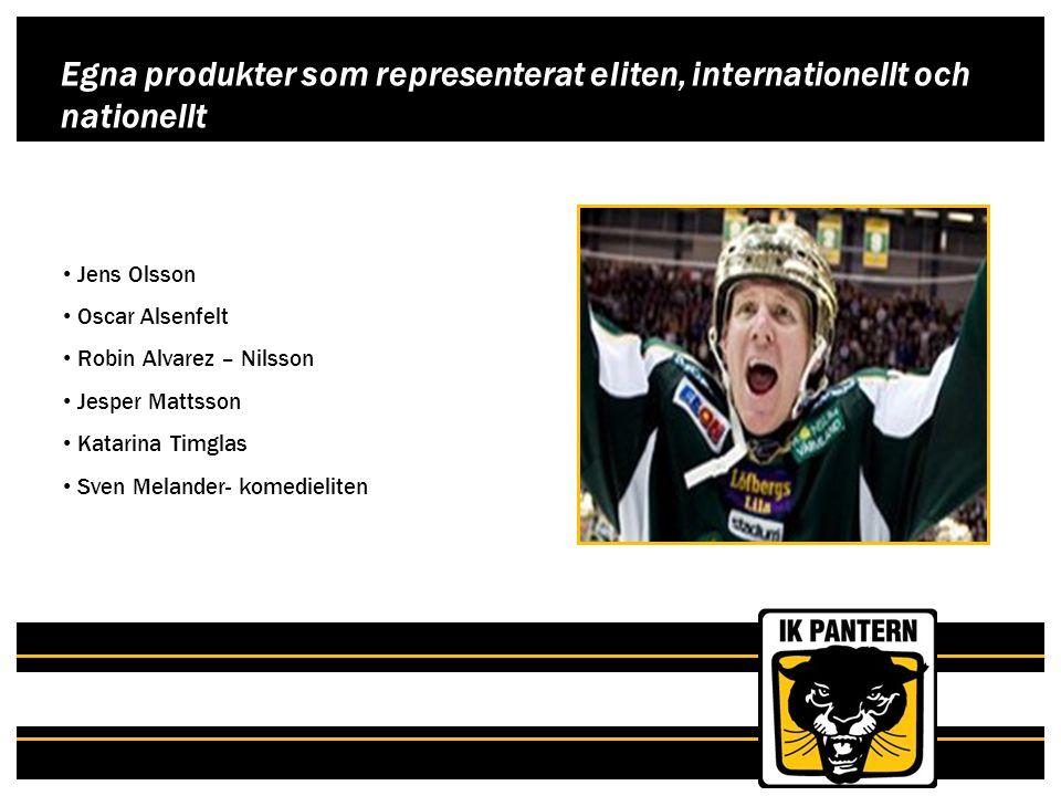 Egna produkter som representerat eliten, internationellt och nationellt Jens Olsson Oscar Alsenfelt Robin Alvarez – Nilsson Jesper Mattsson Katarina T