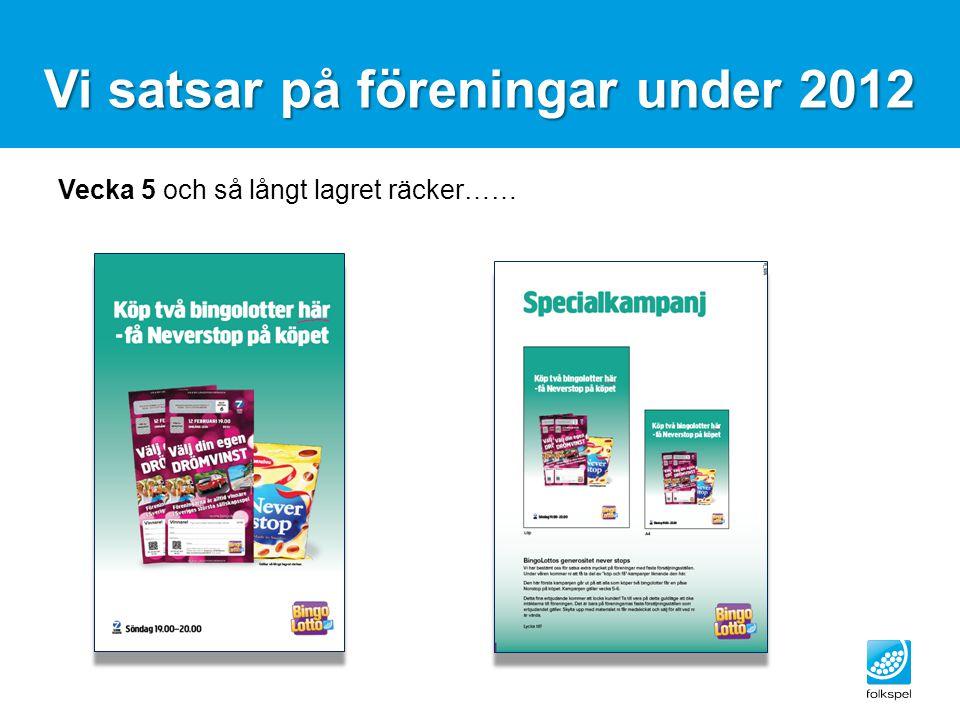 Vi satsar på föreningar under 2012 Vecka 5 och så långt lagret räcker……