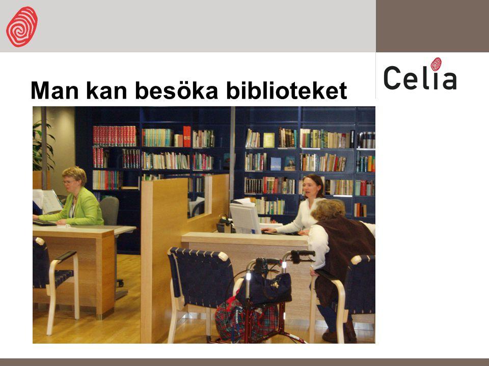 Man kan besöka biblioteket