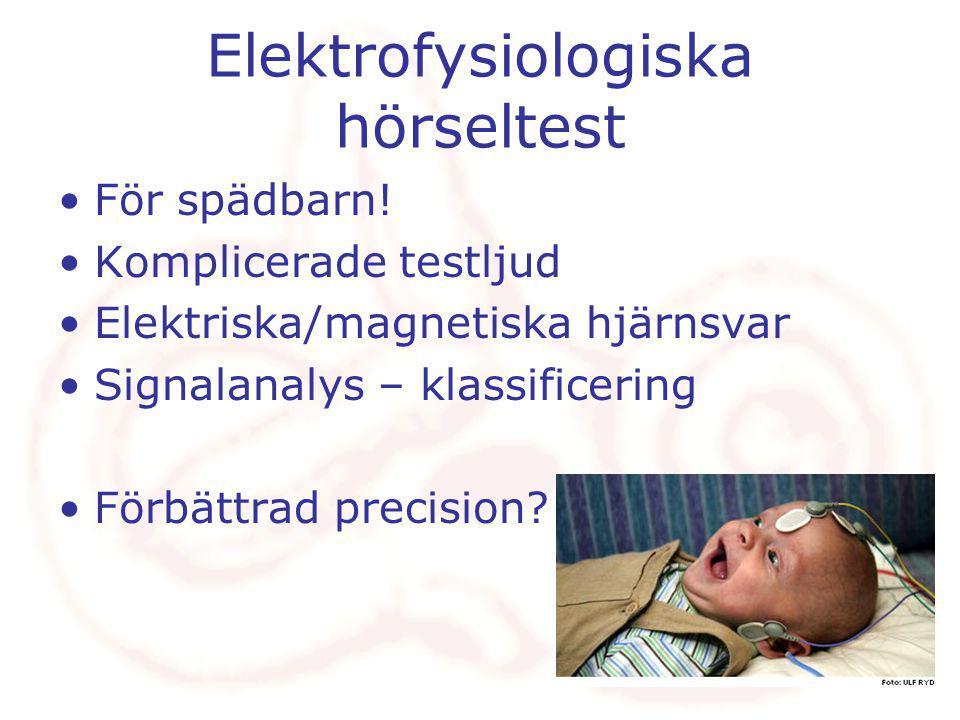 Elektrofysiologiska hörseltest För spädbarn.