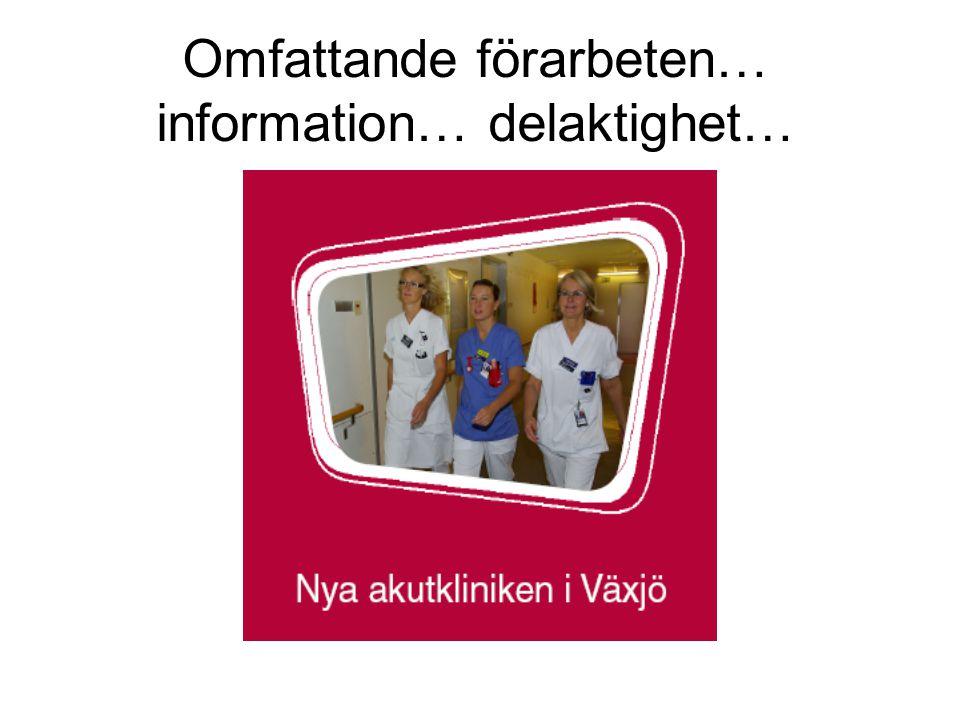 Omfattande förarbeten… information… delaktighet…