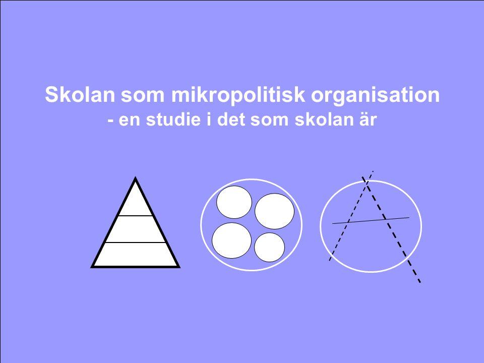 Skolan som mikropolitisk organisation - en studie i det som skolan är