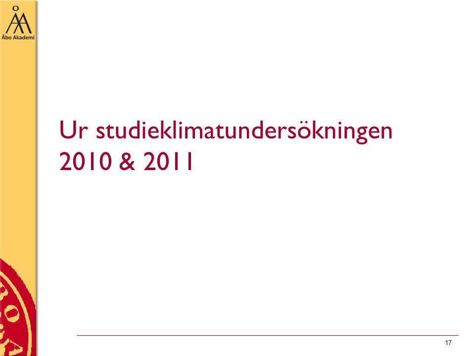 17 Ur studieklimatundersökningen 2010 & 2011