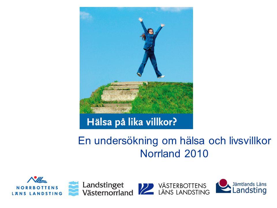 En undersökning om hälsa och livsvillkor Norrland 2010