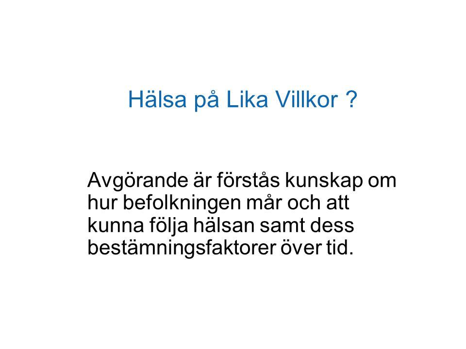 Hälsa på Lika Villkor .