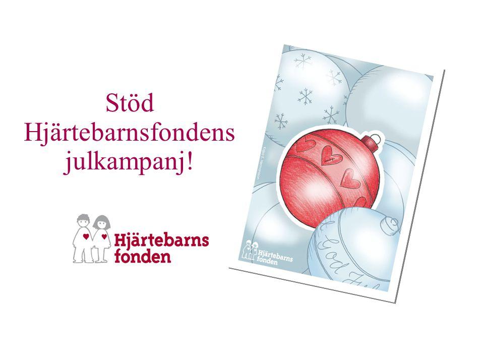 Stöd Hjärtebarnsfondens julkampanj!