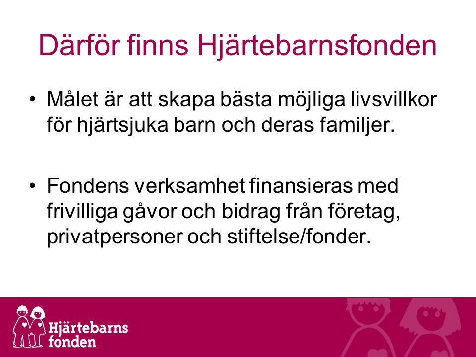 Därför finns Hjärtebarnsfonden Målet är att skapa bästa möjliga livsvillkor för hjärtsjuka barn och deras familjer.