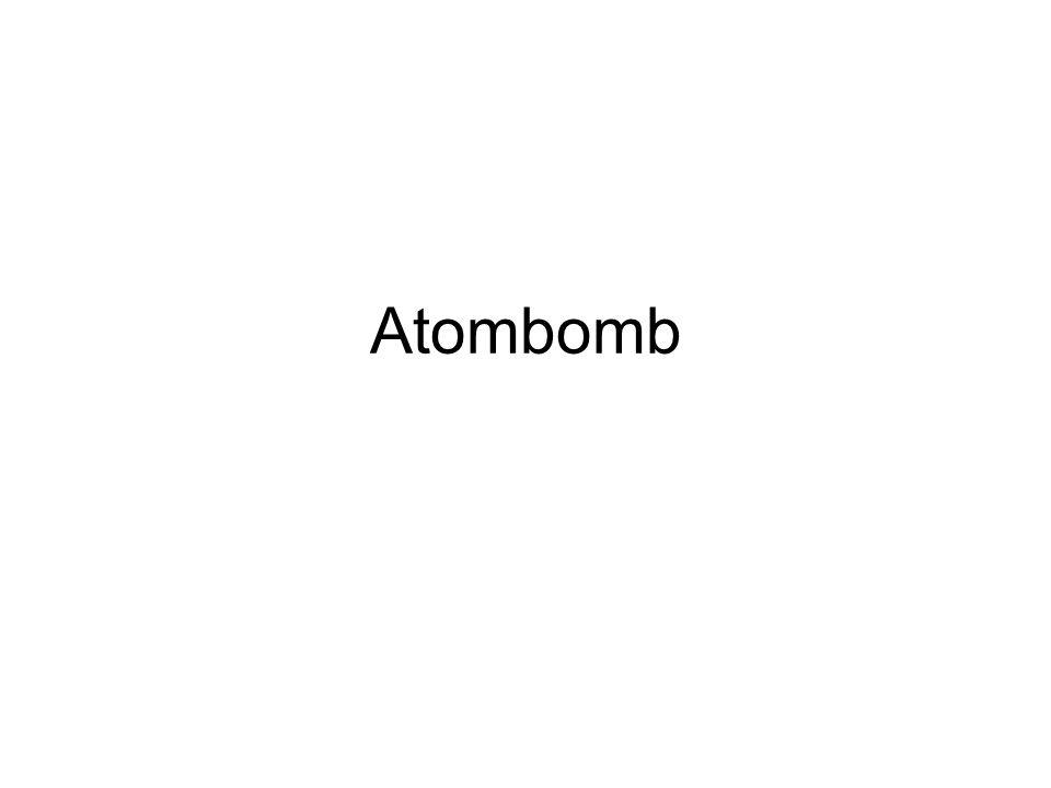 Vad är en atombomb och vem skapade den.