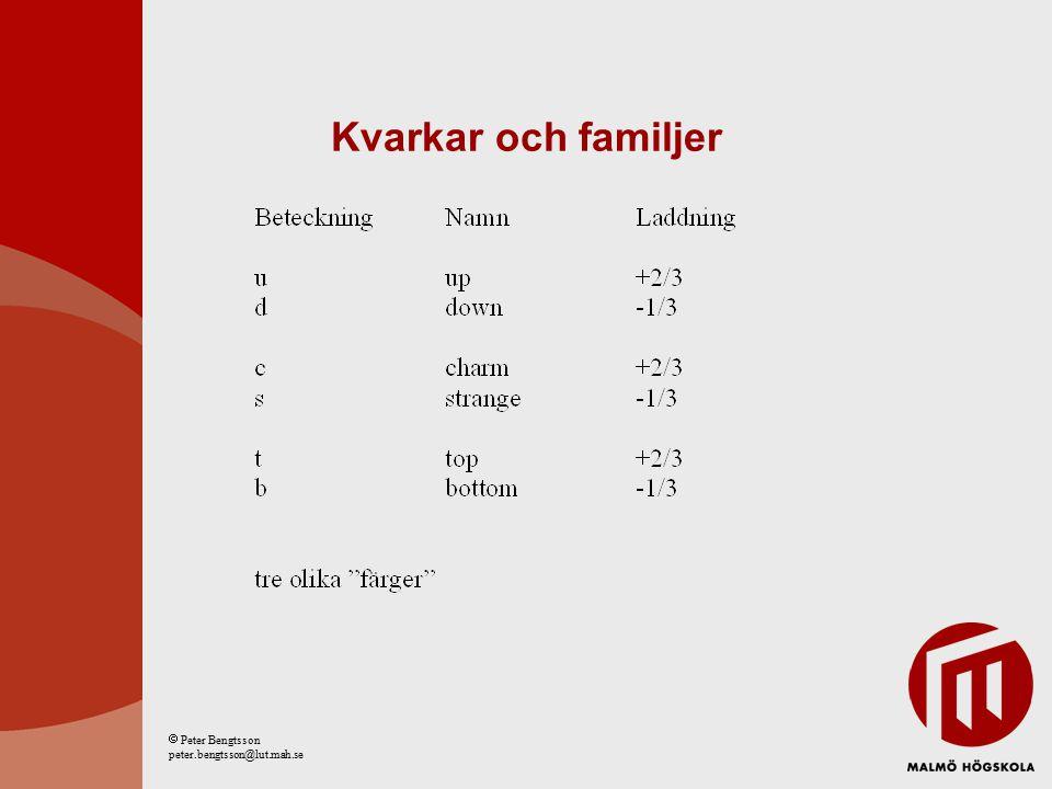 Kraftförmedlare  Peter Bengtsson peter.bengtsson@lut.mah.se