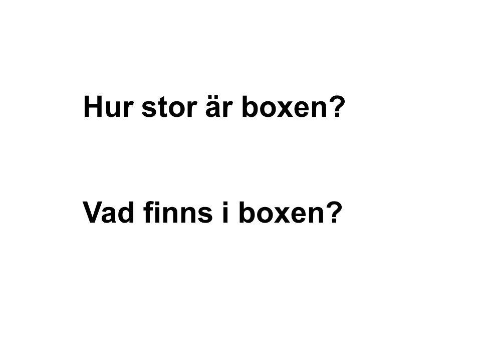 Boxen kan vara stor….
