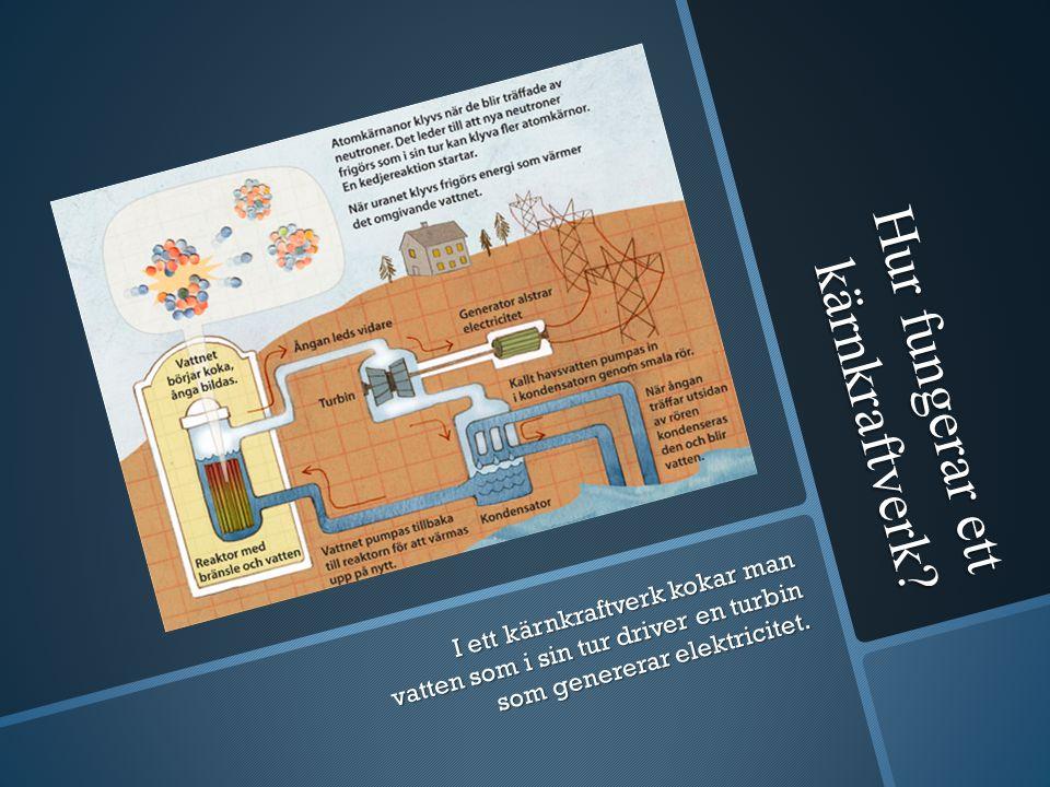 Hur fungerar ett kärnkraftverk.