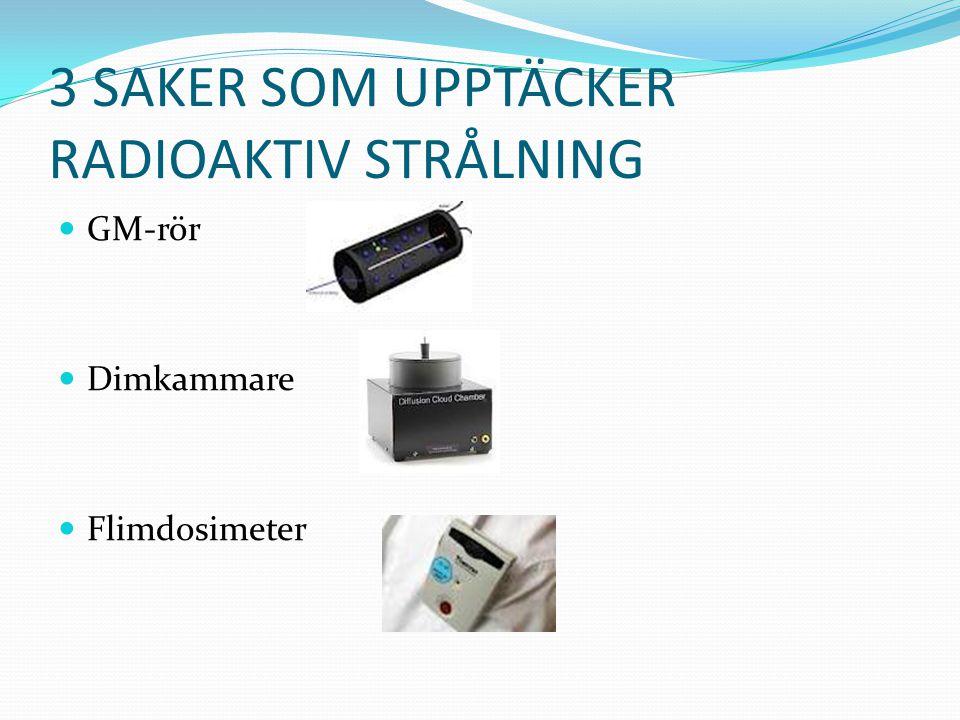 3 SAKER SOM UPPTÄCKER RADIOAKTIV STRÅLNING GM-rör Dimkammare Flimdosimeter
