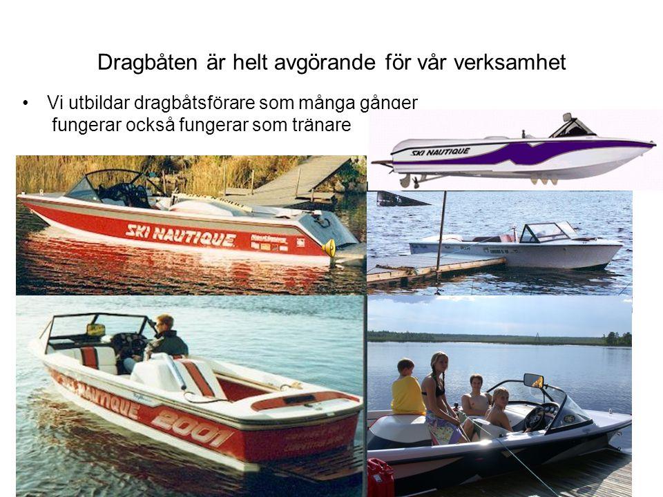 Dragbåten är helt avgörande för vår verksamhet Vi utbildar dragbåtsförare som många gånger fungerar också fungerar som tränare