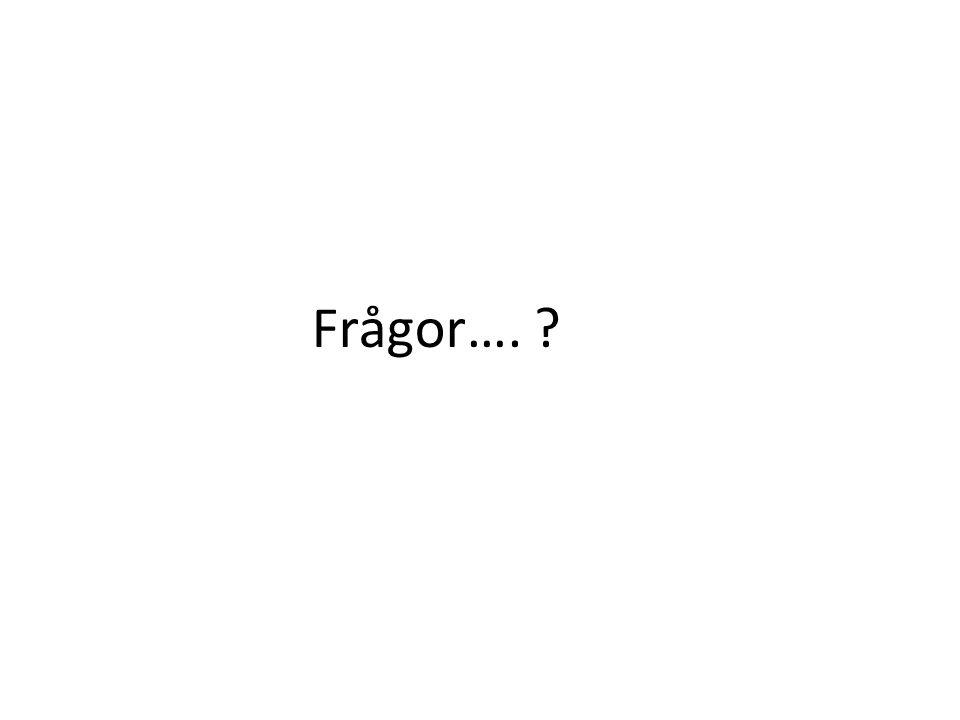 Frågor….