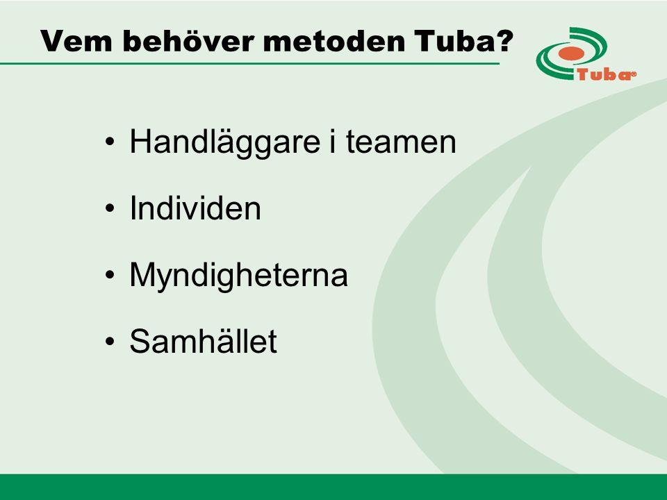 Vem behöver metoden Tuba Handläggare i teamen Individen Myndigheterna Samhället