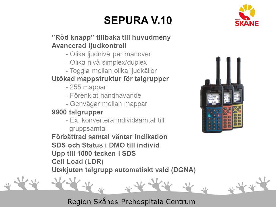 """29-Mar-15 Slide 2 Region Skånes Prehospitala Centrum """"Röd knapp"""" tillbaka till huvudmeny Avancerad ljudkontroll - Olika ljudnivå per manöver - Olika n"""