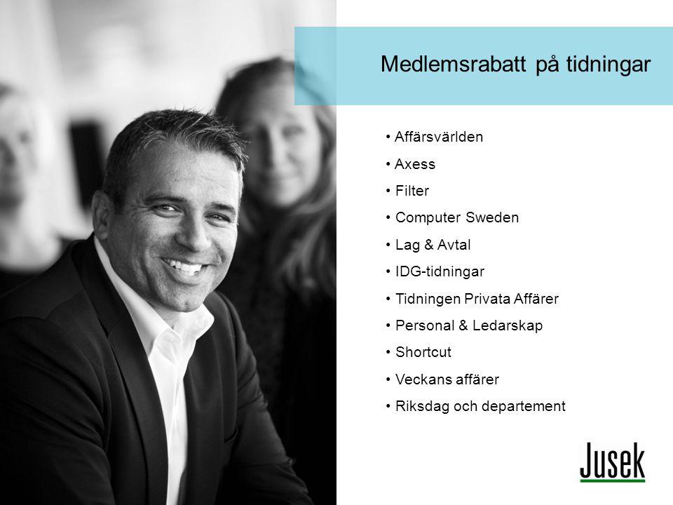 Medlemsrabatt på tidningar Affärsvärlden Axess Filter Computer Sweden Lag & Avtal IDG-tidningar Tidningen Privata Affärer Personal & Ledarskap Shortcu