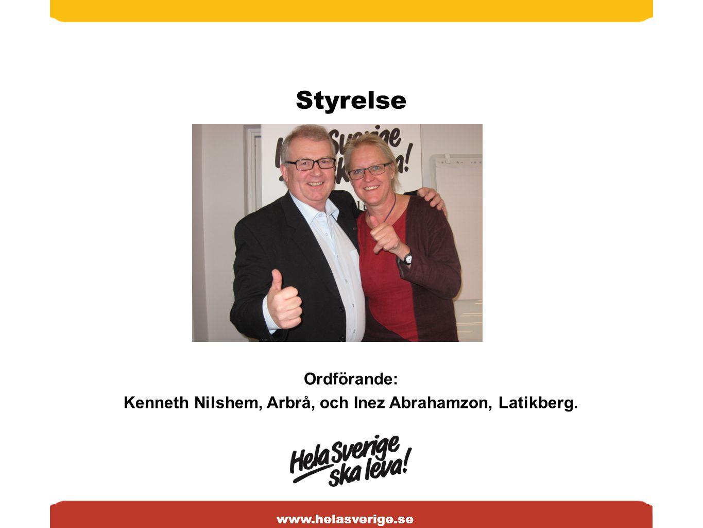 www.helasverige.se Styrelse Ordförande: Kenneth Nilshem, Arbrå, och Inez Abrahamzon, Latikberg.