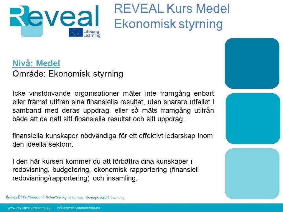 Nivå: Medel Område: Ekonomisk styrning Icke vinstdrivande organisationer mäter inte framgång enbart eller främst utifrån sina finansiella resultat, ut
