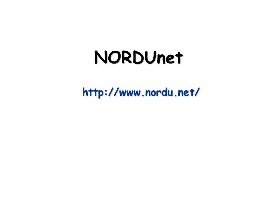 NORDUnet http://www.nordu.net/