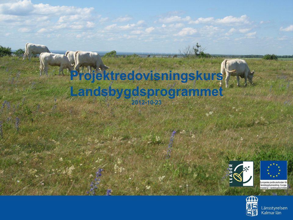 Projektredovisningskurs Landsbygdsprogrammet 2012-10-23