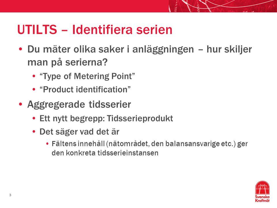 14 Åter till scenariet Elnät AB har skickat UTILTS, mottagaren har svarat med CONTRL, APERAK och ev.