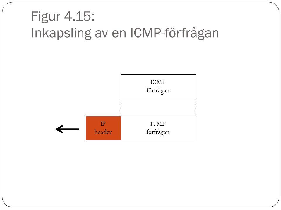 Figur 4.15: Inkapsling av en ICMP-förfrågan ICMP förfrågan IP header