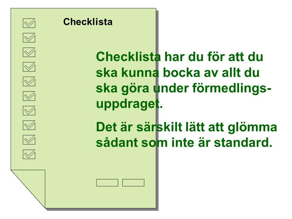 Aktuppläggning Intag Förmedlingsuppdrag Ev.