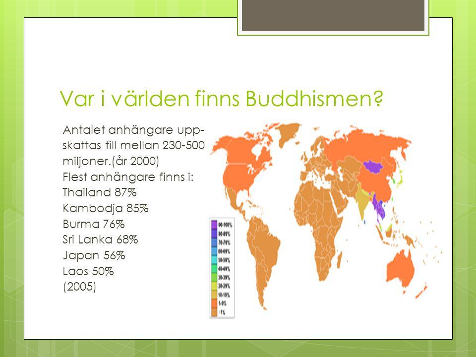 Grundare av Buddhismen Grundaren av religionen Buddhism heter Siddharta Gautama.