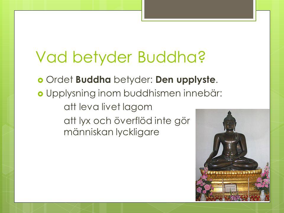Buddhismens fyra ädla sanningar 1.1. Sanningen om lidandet 2.