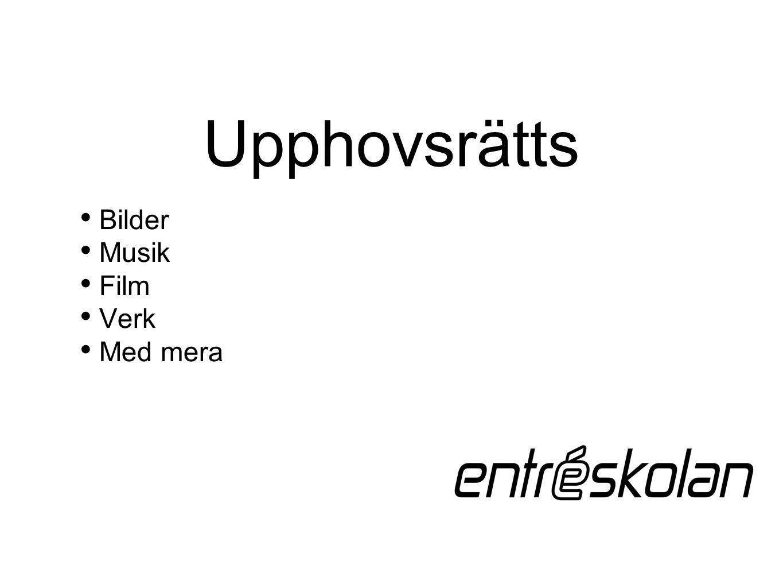 Upphovsrätts Bilder Musik Film Verk Med mera