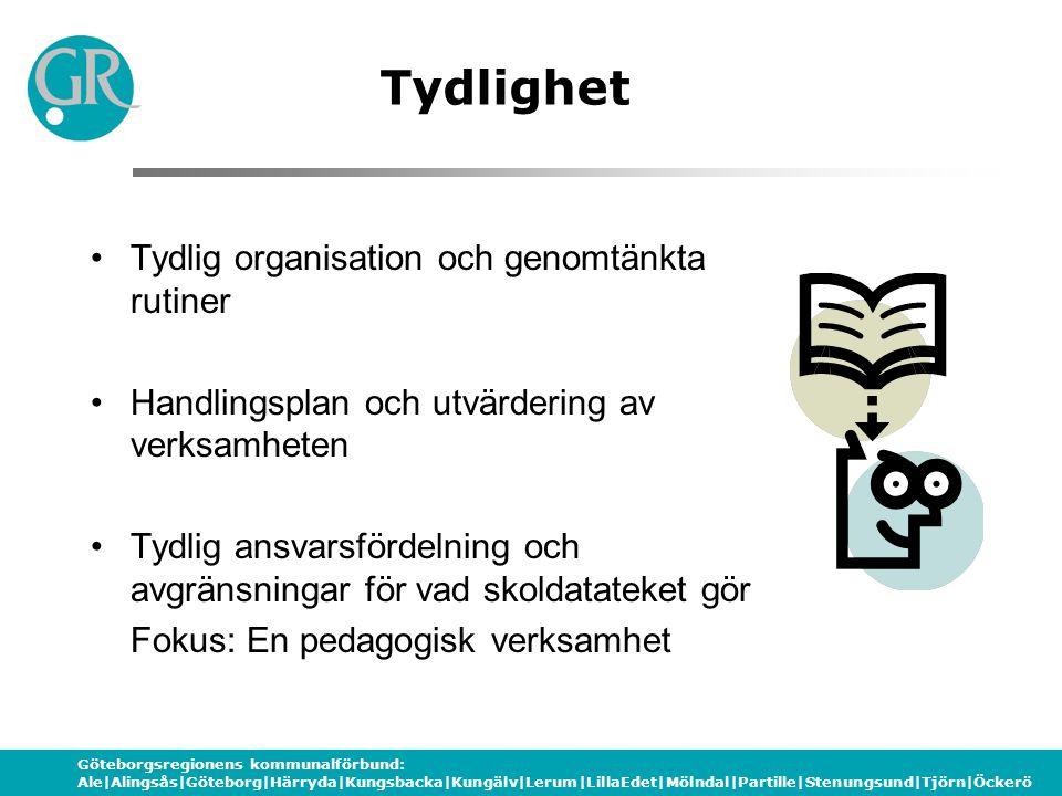 Göteborgsregionens kommunalförbund: Ale|Alingsås|Göteborg|Härryda|Kungsbacka|Kungälv|Lerum|LillaEdet|Mölndal|Partille|Stenungsund|Tjörn|Öckerö Tydligh