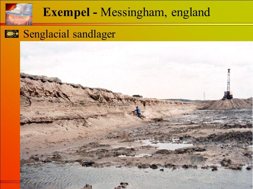 Senglacial sandlager Exempel - Messingham, england