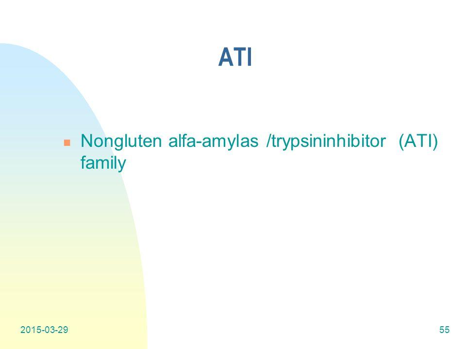 ATI Nongluten alfa-amylas /trypsininhibitor (ATI) family 2015-03-2955