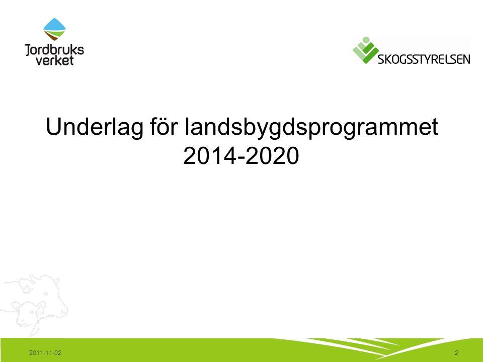 13 Information och dialog för alla intresserade Information finns på www.jordbruksverket.se/nyttlandsbygdsprogram Facebook-sida öppen – var med i dialogen.