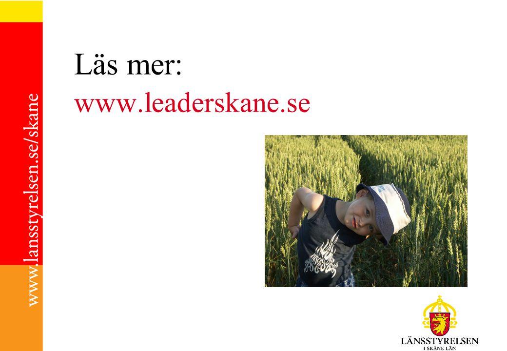 Läs mer: www.leaderskane.se
