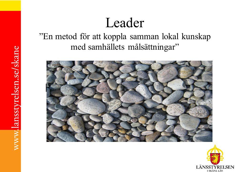 Leader En metod för att koppla samman lokal kunskap med samhällets målsättningar l