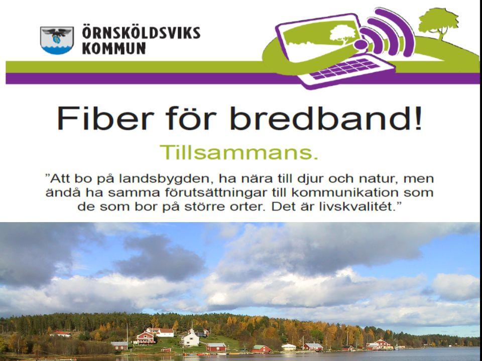 Kommunens inriktning med ortssammanbindande nät.Kommunens modell för byanätssamverkan.