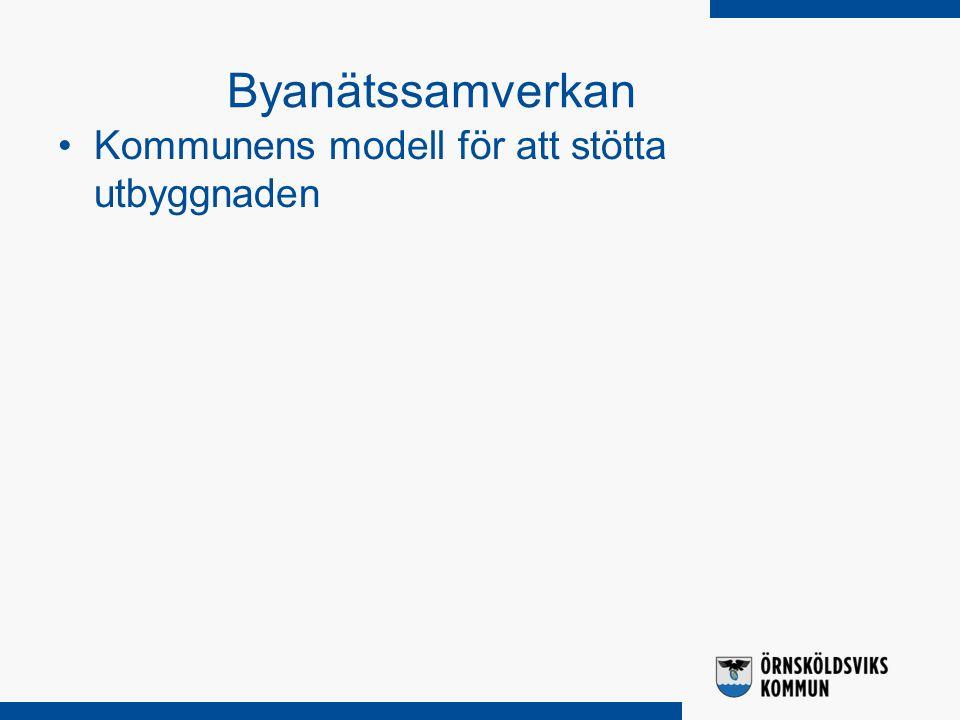 Kommunens modell för att stötta utbyggnaden Byanätssamverkan