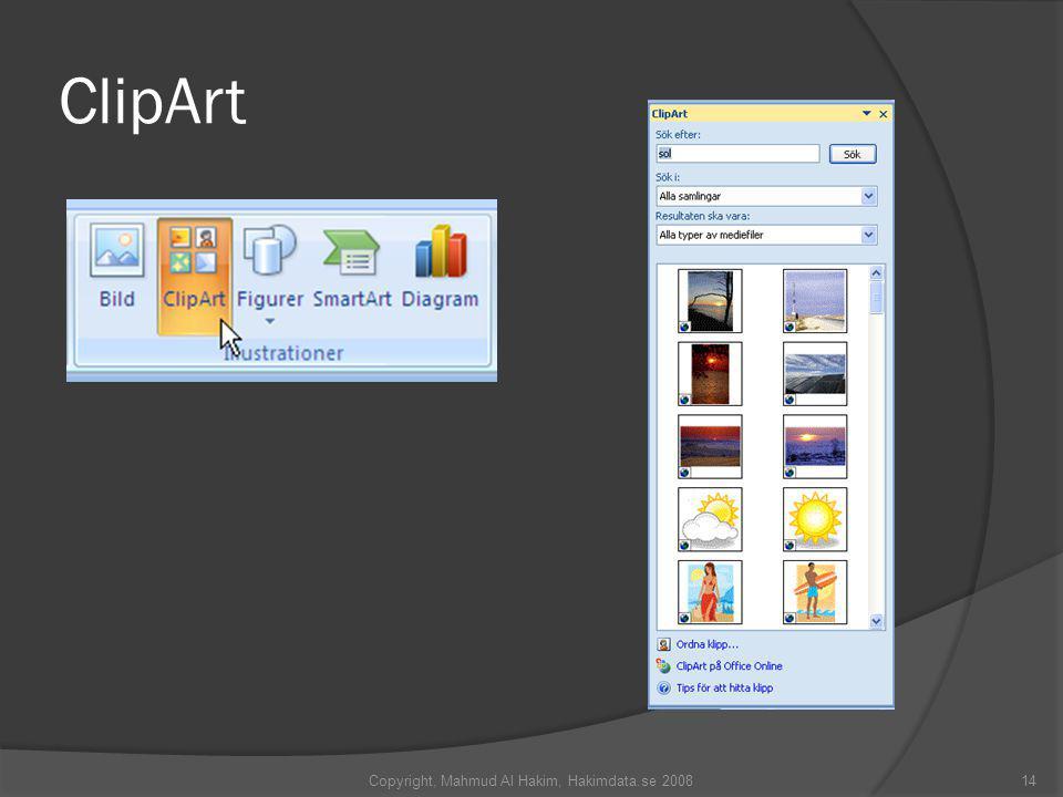 ClipArt Copyright, Mahmud Al Hakim, Hakimdata.se 200814