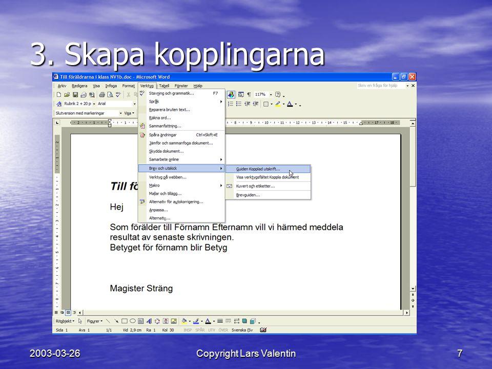 2003-03-26Copyright Lars Valentin8