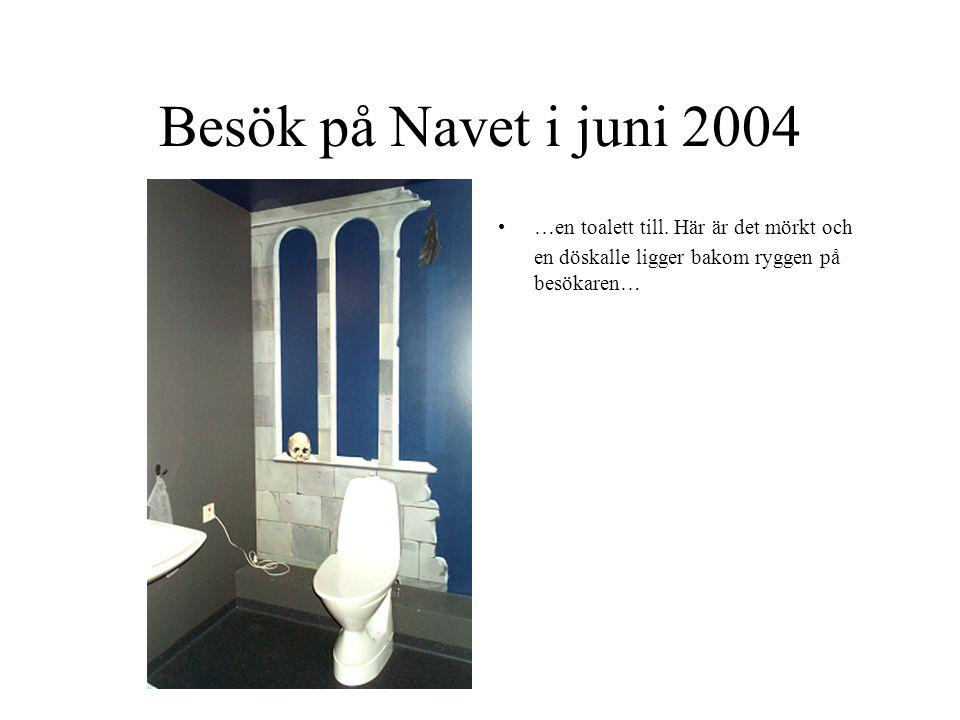 Besök på Navet i juni 2004 …en toalett till.