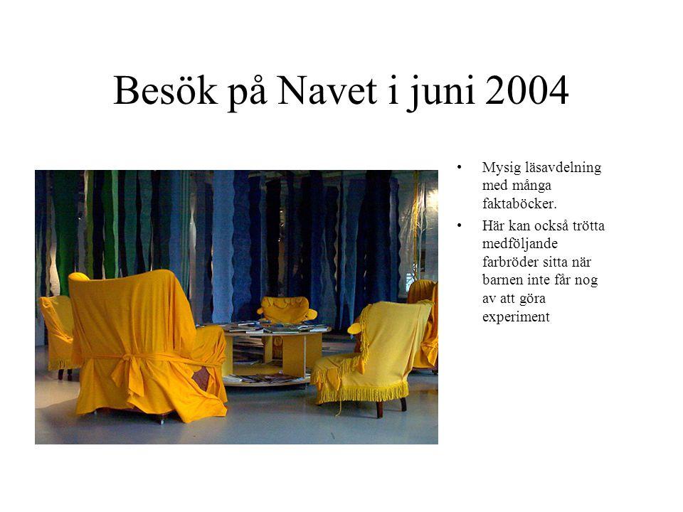Besök på Navet i juni 2004 Mysig läsavdelning med många faktaböcker.