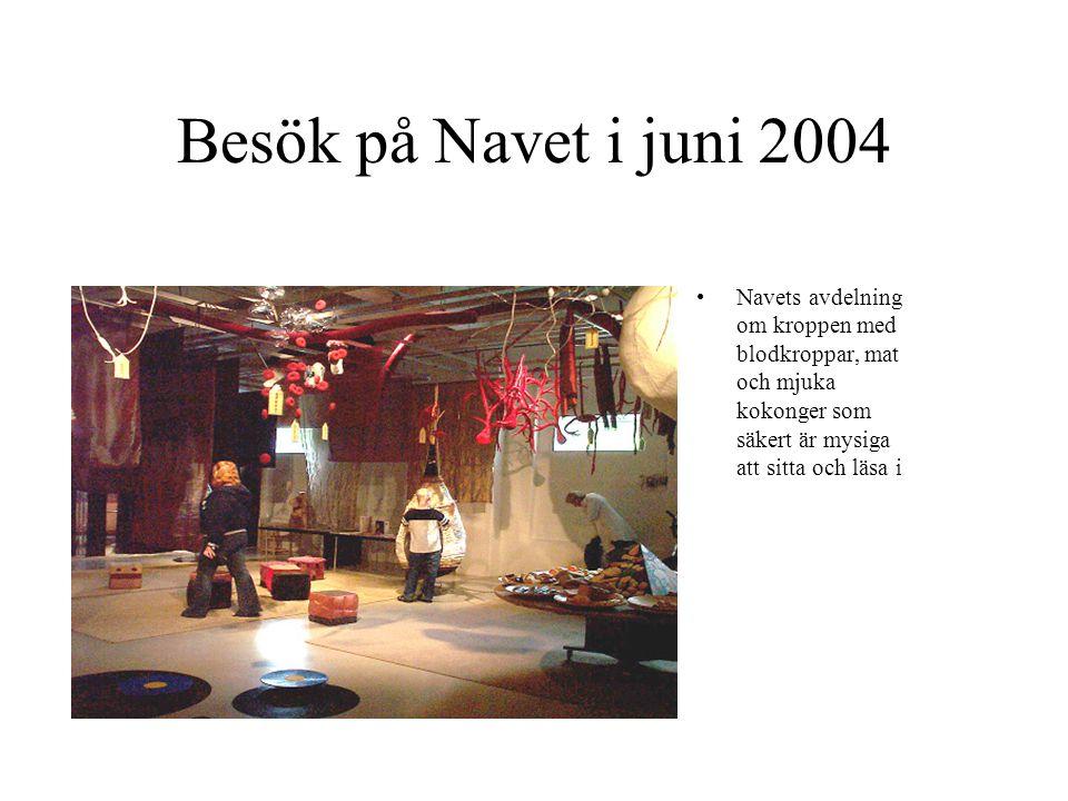 Besök på Navet i juni 2004 Navets avdelning om kroppen med blodkroppar, mat och mjuka kokonger som säkert är mysiga att sitta och läsa i