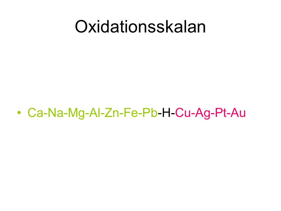 Bauxit till aluminium Bauxit + NaOH Upphettas Al 2 O Elektrolys Smält aluminium Syre