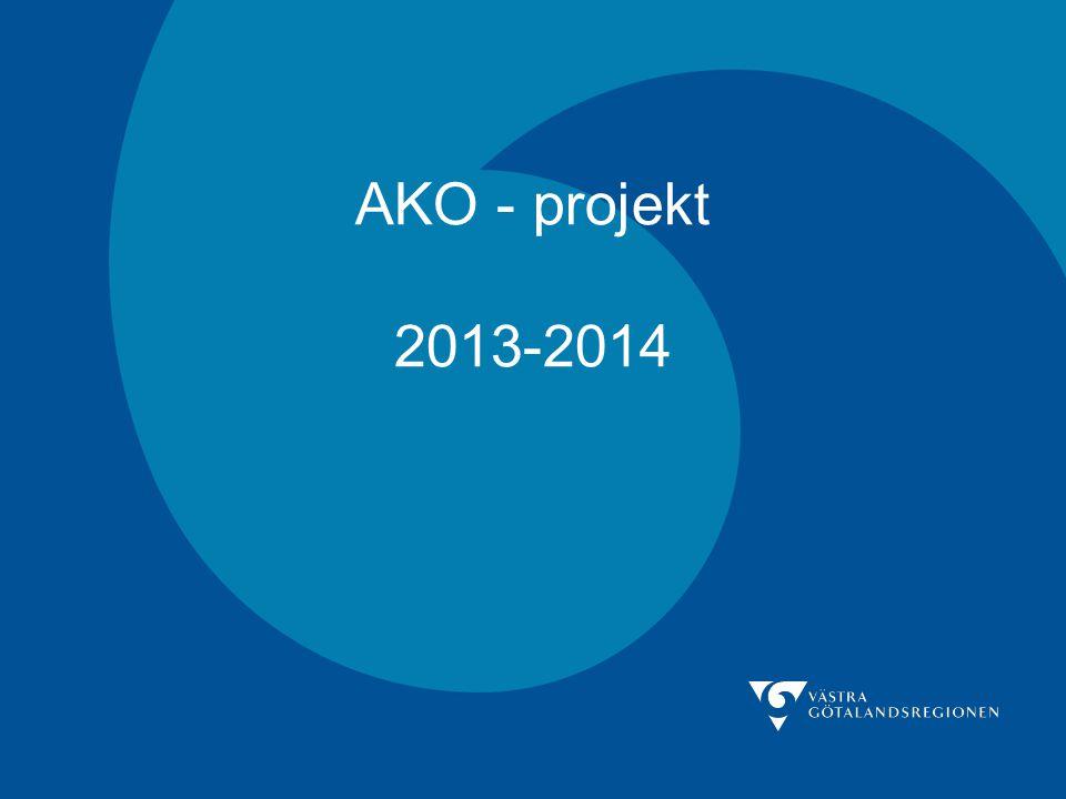 AKO – pilot 2013-14 Bakgrund Utgångspunkt i Gränssnittsgruppens arbete Behov av ett system som underlättar implementeringen av regionala riktlinjer och som åstadkommer en förbättrad kollegial dialog.