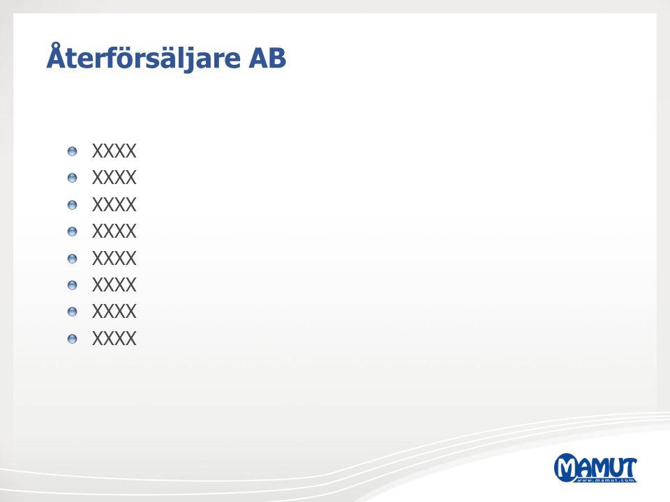 Återförsäljare AB XXXX