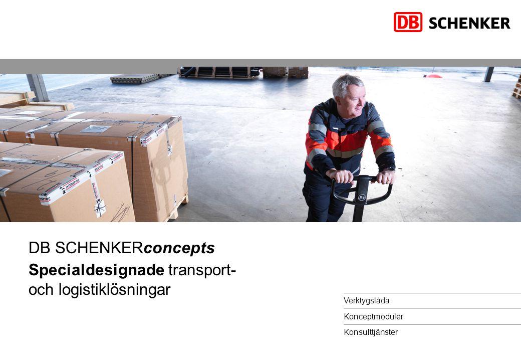 Verktygslåda Konceptmoduler Konsulttjänster DB SCHENKERconcepts Specialdesignade transport- och logistiklösningar