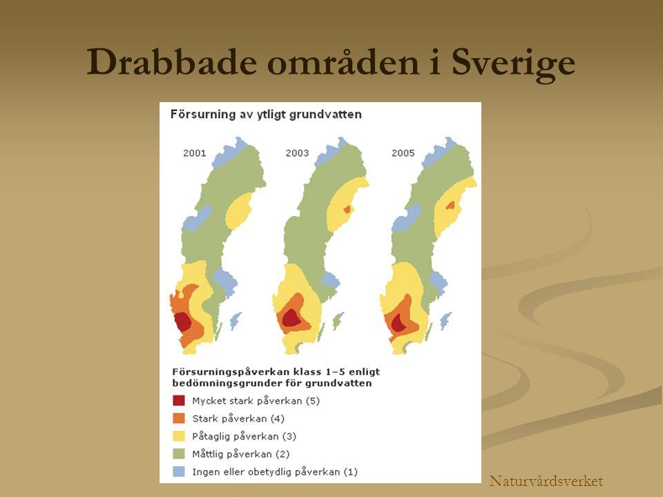 Drabbade områden i Sverige Naturvårdsverket