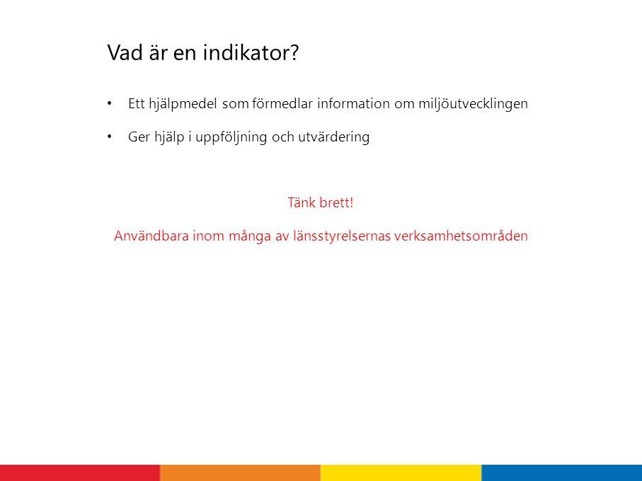 Indikatorpresentationerna på Miljömålsportalen www.miljomal.se/indikatorer 1 2 3
